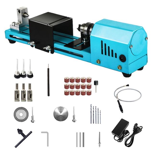 150W Mini tokarka koraliki maszyna miniaturowe budda Pearl tokarka DIY do obróbki drewna budda Pearl tokarka wiertarka obrotowa narzędzie 12V/24V