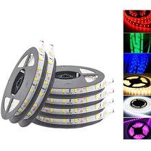 5m 300 led strip light não impermeável dc12v fita smd3528 mais brilhante 5050 branco quente/azul/vermelho/verde luzes do feriado artigo