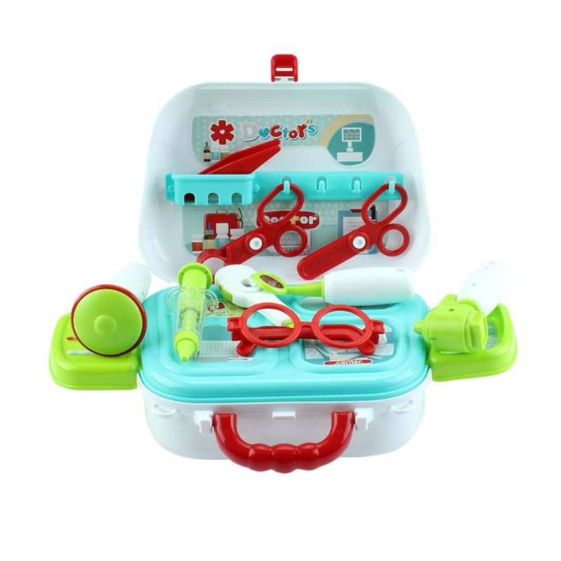 Simulated Medical Shoulder Bag Set Doctor Equipment Suitcase Kit for Kids Children Play House Toys Birthday Gifts Q6PD image