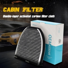 2128300118 2128300318 Car Accessories Activated Carbon Pollen Cabin Air Filter For Mercedes Benz C CLASS W204 S204 C204 CLS C218