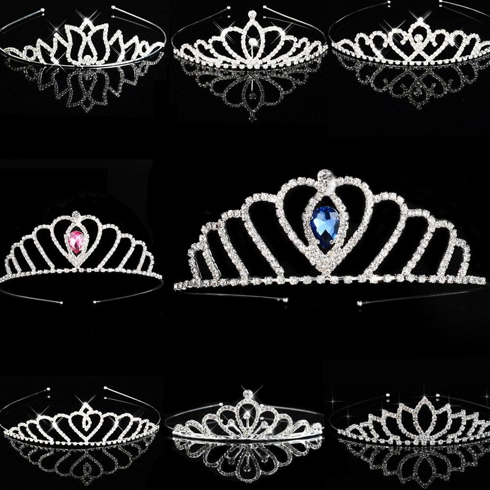 Тиары для девочек и принцесс, свадебные тиары синего цвета для выпускного вечера, подружки невесты, подружки невесты, аксессуары для свадеб...