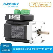 ¡Envío gratis! Nema23 servomotor integrado con accionamiento, 100w, 3000rpm, 0.29Nm, 41Oz in, 36vDC, 6.0A, 57x76mm