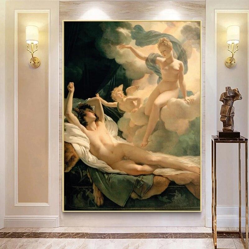 Pierre Nasis Girlande Traum und Widder Leinwand Malerei Wand Kunst Berühmte Bild Poster und Drucke für Wohnzimmer Hause decor