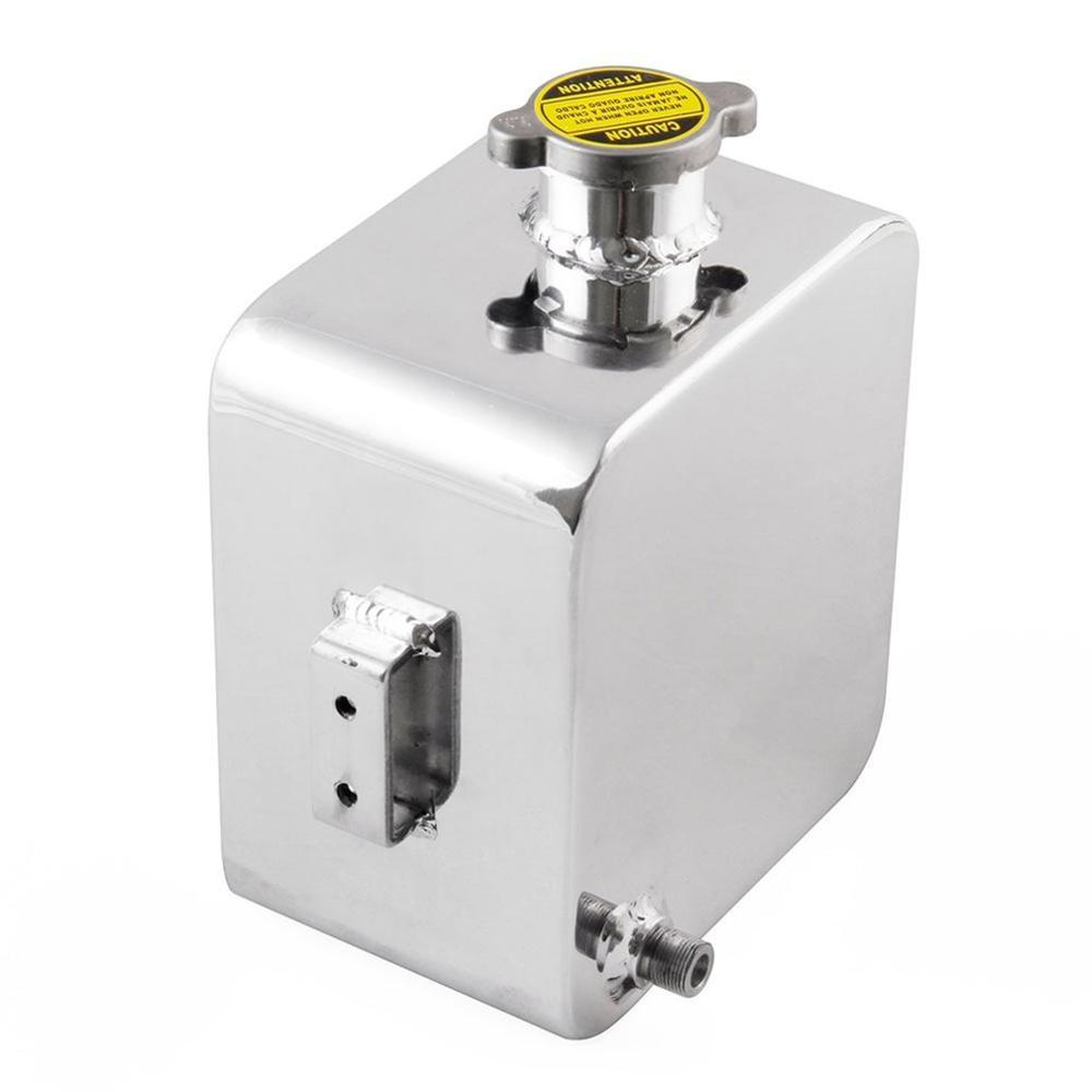 2.5L Dep/ósito del Tanque de Agua de Refrigerante del Radiador para Coche Tanque de Expansi/ón de Desbordamiento de Refrigerante de Aluminio