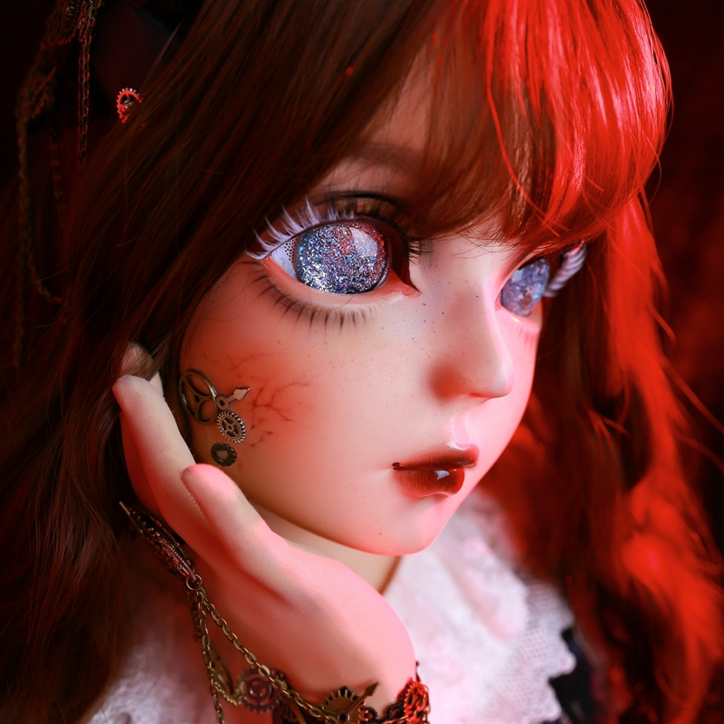 (HIDOLLS <font><b>18</b></font>) Handmade Female <font><b>Girl</b></font> Silica Resin Bdsm <font><b>Sex</b></font> Crossdresser Doll Mask Cosplay Scary BJD Kigurumi Masks image