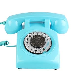 Image 5 - Retro della Manopola Rotativa Telefono di Casa, Vecchio stile Classico Con Filo Telefono Telefono Vintage Telefono di Rete Fissa per la Casa e Lufficio