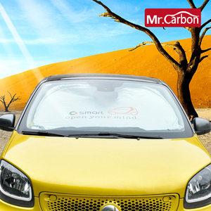 Image 3 - Car Window Sunshade Front Windshield Snow Sun Shade Cover For New Smart 453 Fortwo Forfour Car Styling UV Protection Accessories