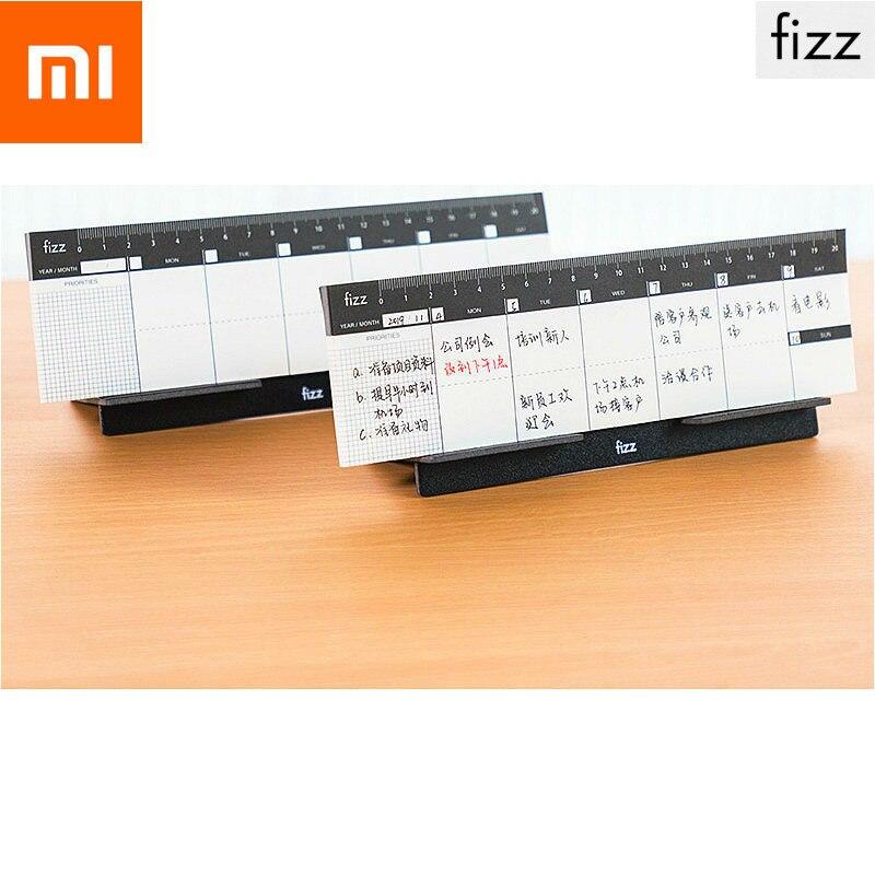 Original Xiaomi Fizz Notebook Weekly Planner Xiomi Desktop Booklet Benchtop Week Plan Book Notepad Planning Scale Mark Bracket