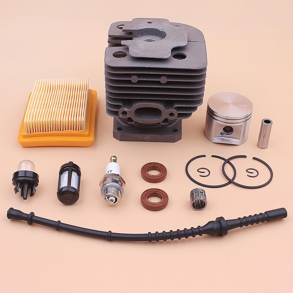 Tools : 42mm Cylinder Piston Kit For Stihl FS450 FS 450 Air Fuel Filter Line Oil Seal Primer Bulb Spark Plug Trimmer 4128 020 1211