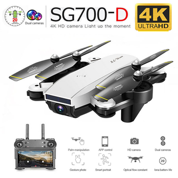 Sg700d 4k 1080p wifi fpv câmera dupla zangão profisional grande angular 50x zoom óptico siga rc quadcopter dron 1