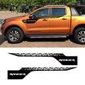 2 шт Маркировка шин сторона полоса Графический виниловый стикер автомобиля Наклейка на верх двери для Ford Ranger 2012-2019