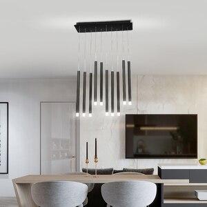 Image 4 - Modern LED Pendant Lights 30W 40W Black/Rose Gold Hanging Lamp For Living Dining Room Bar Home Deco Creative Pendant Lighting