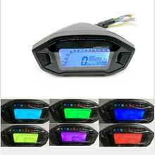 LCD Universal Motorrad Tacho Gauge Kilometerzähler 5 Getriebe 7 Hintergrundbeleuchtung 13000 RPM 199 KMH MPH Motorrad Tachometer