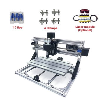 CNC 1610 Mini Laser engraving Machine 3 Axis PCB Milling router with GRBL Control