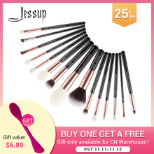 Jessup Beauty 15pcs Cosmetics Makeup Brushes Set Dropshipping pinceaux maquillage Foundation Eyeshadow Blending Brushes T162