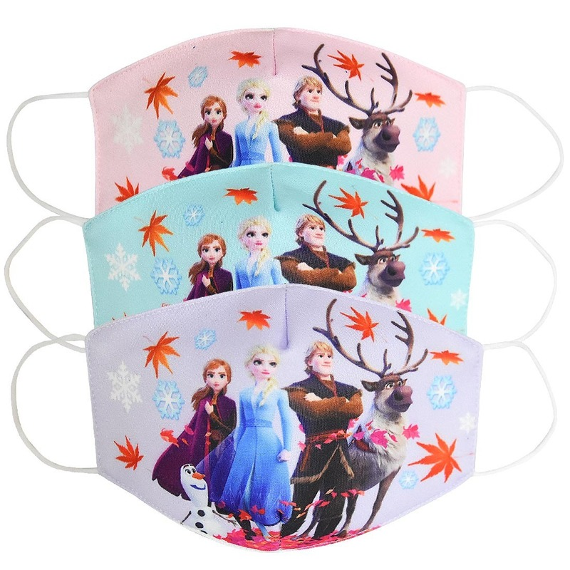 2020 New 16PC Disney Frozen Multi-Style Anime Cartoon Cottons Mouth Mask Anti Dust  On Face For Adult Kids Children Respirator