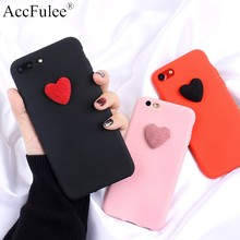 3D Cute Love Heart Matte Soft TPU Case For LG V10 V20 V30 V40 V50 G3 G4 G5 G6 G G8 Q6 Alpha Q6 Plus Q7 2018 Q8 Candy Cover(China)