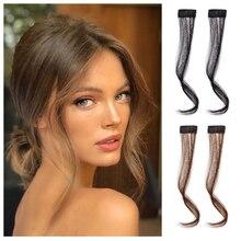 Fashion Brazilian Human Hair Dragon Beard Bangs Hair Extension Real Non-Remy Hair Bangs Hair Piece 100% Real human hair