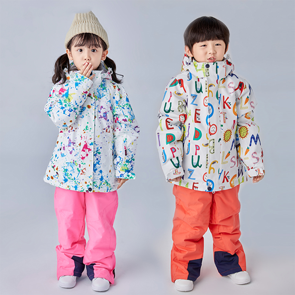 Children's Ski Suit Jumpsuit Snowboard Winter Kids Boys and Girls Ski Jackets Pants Warm Windproof Waterproof Snow Sets Snowwear