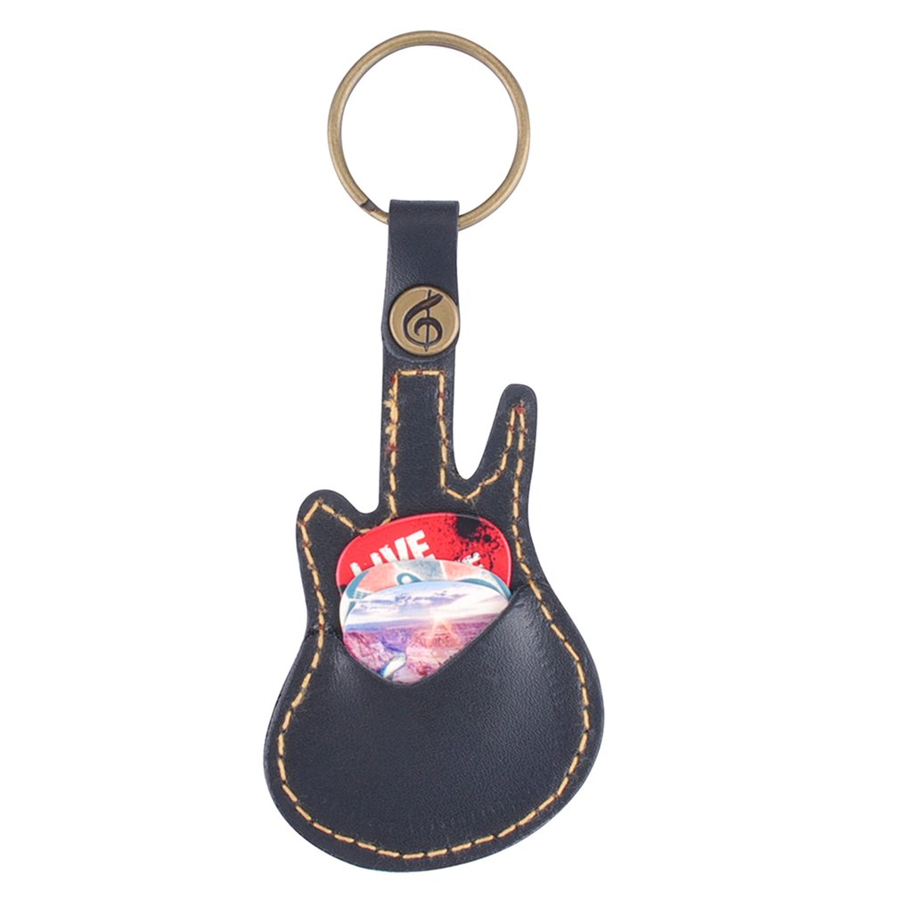 Key Ring Leather Paddles Package Case Holder For Guitar Picks Guitar Accessories With 5 Paddles Guitar Sweep-dial Parts