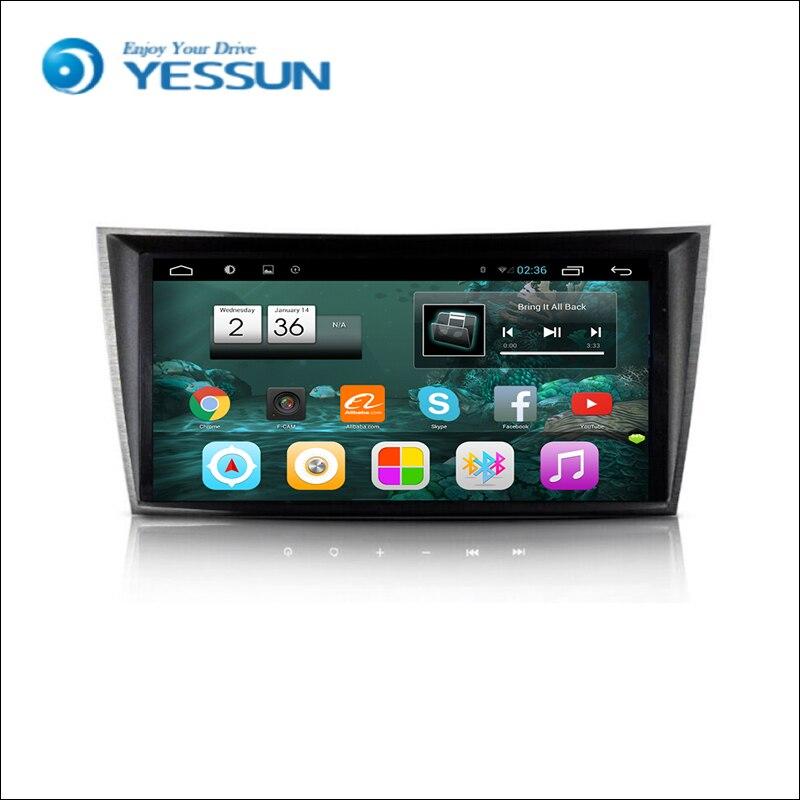 עבור מרצדס בנץ E200 E220 E240 E270 E280-רכב אנדרואיד מדיה נגן מערכת רדיו סטריאו GPS ניווט מולטימדיה אודיו וידאו