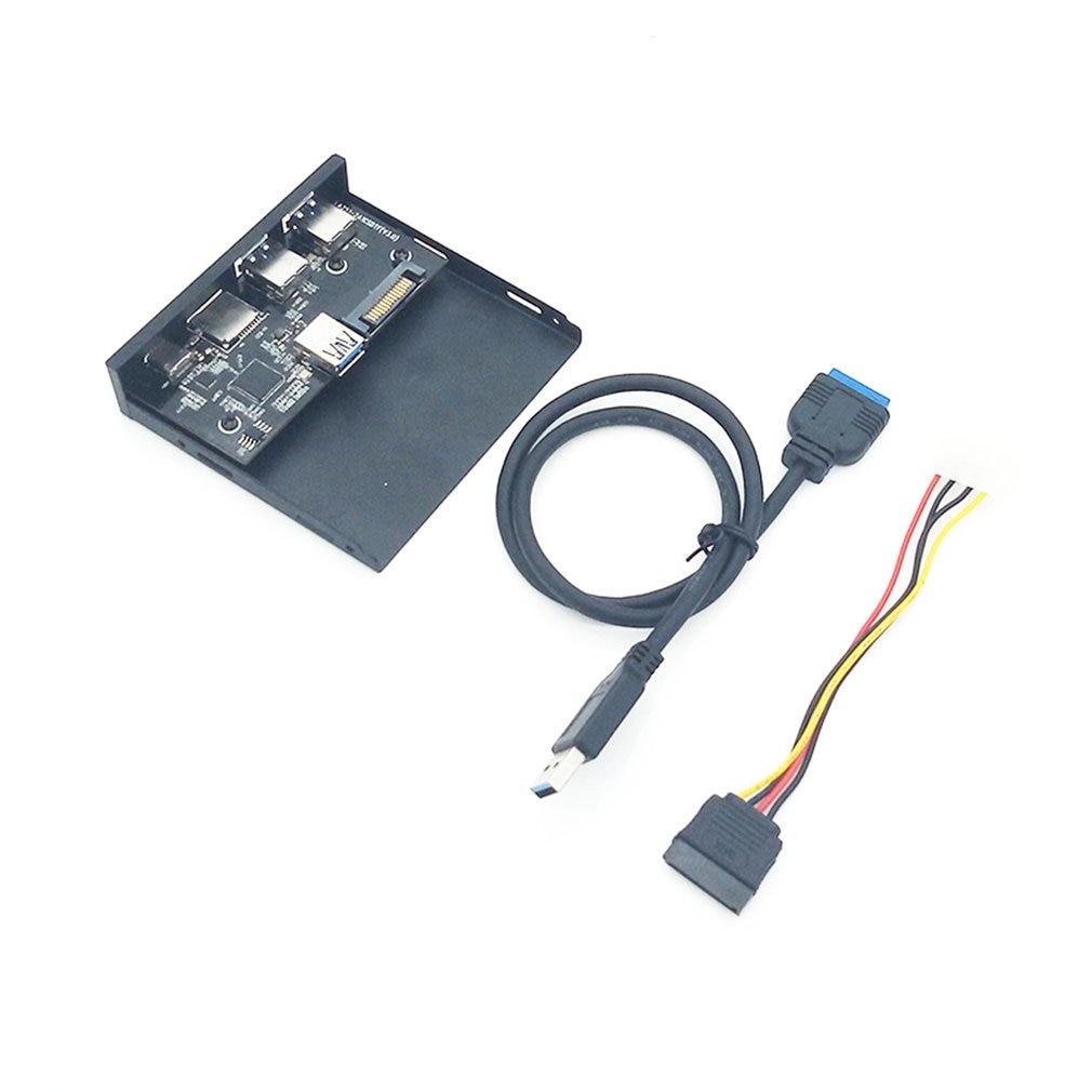 33S50-RTK 3 в 1 кард-ридер USB 3,0 Передняя панель медиа тип-c двойной USB 3,0 порт концентратор приборной панели ПК передняя панель с кабелем питания