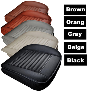 Image 4 - 1pcs Car Seat Cover Without Backrest PU Leather Bamboo Charcoal Auto Seat Cushion Automobiles Non slip Cover Seat