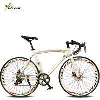 Neue Marke Stadt Fahrrad Aluminium Legierung Muscle Rahmen 700CC Rad 14/18 Geschwindigkeit Dual Disc Bremse bicicleta 52cm fahrrad