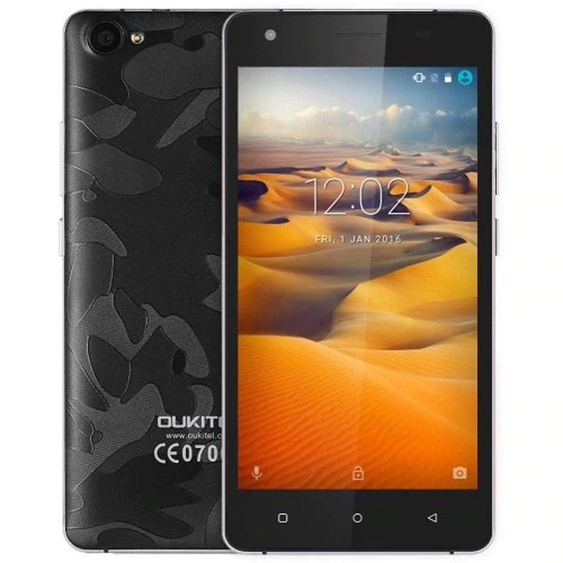 "Original Oukitel C5 Pro 5.0"" MTK6737 Quad Core Android 6.0 2GB+16GB Dual Cameras 1280x720 5.0MP 2000mAh OTA GPS Smartphone"
