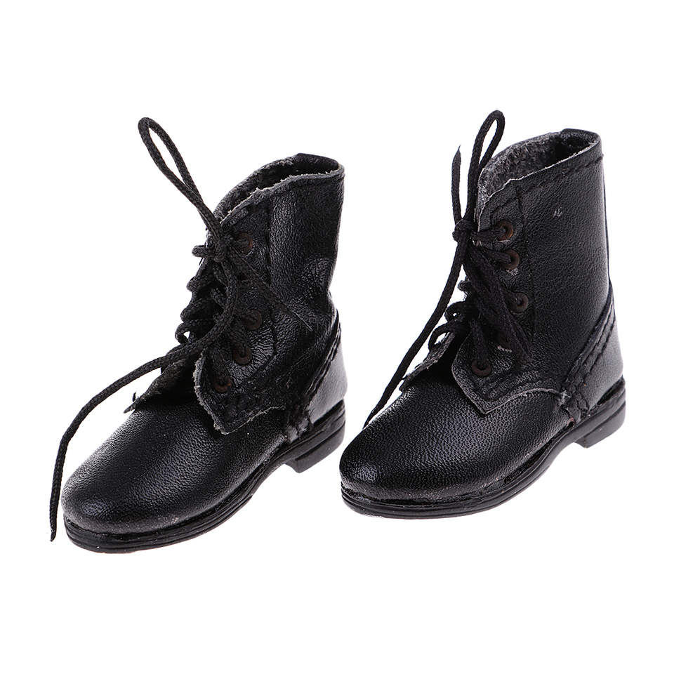 2 Pair 1//6 Scale Flat Combat Boots Shoes for Male 12/'/' Action Figure Accessories