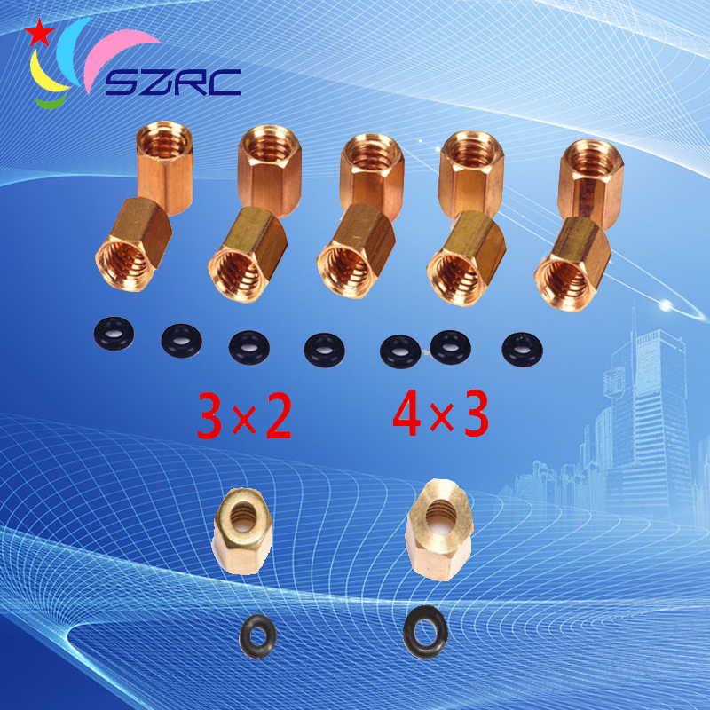 High quality Nuts Copper thread O-ring for Epson 7600 9600 7800 <font><b>7880</b></font> 9800 9880 4800 Damper image