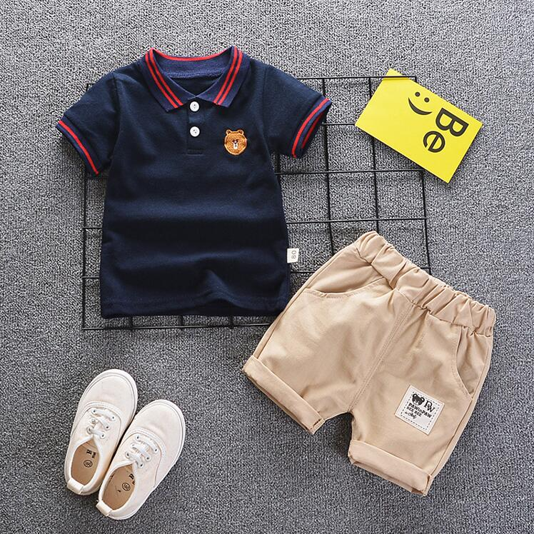 Summer Baby Boys Clothes Suits Gentleman Style Boys Clothing Sets T- Shirt+Pants 2 Pcs Casual Sport Suits Toddler Sets