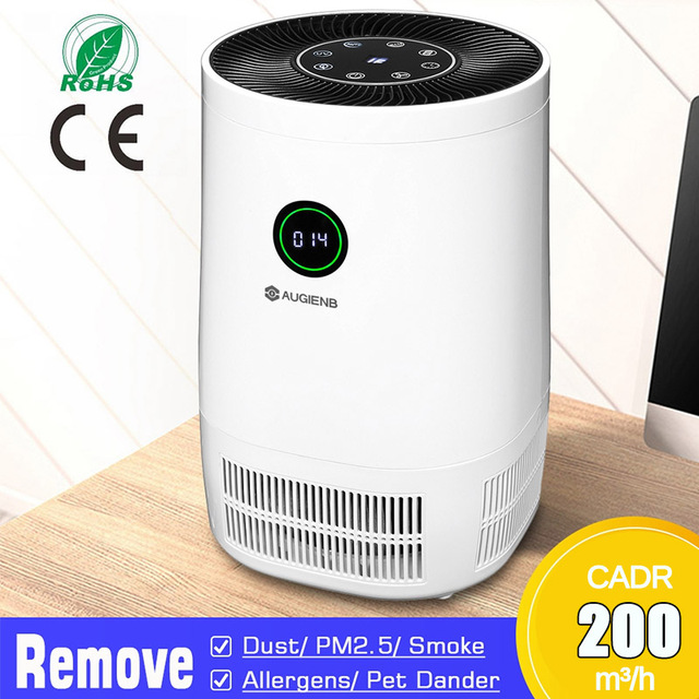 AUGIENB 20200New Air Purifier Ionizer With HEPA Filter Remove Odor Smoker Dust Wash Air For Home Room Air Cleaner Filter