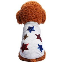 Cat Dog Clothes Star Accessories Breathable Vest Pet Shirt Bling Summer Puppy Soft
