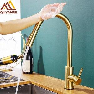 Champagne Bronze Gold Sensor Kitchen Faucets Sensitive Smart Touch Control Faucet Mixer Tap Touch Sensor Smart Kitchen Taps(China)