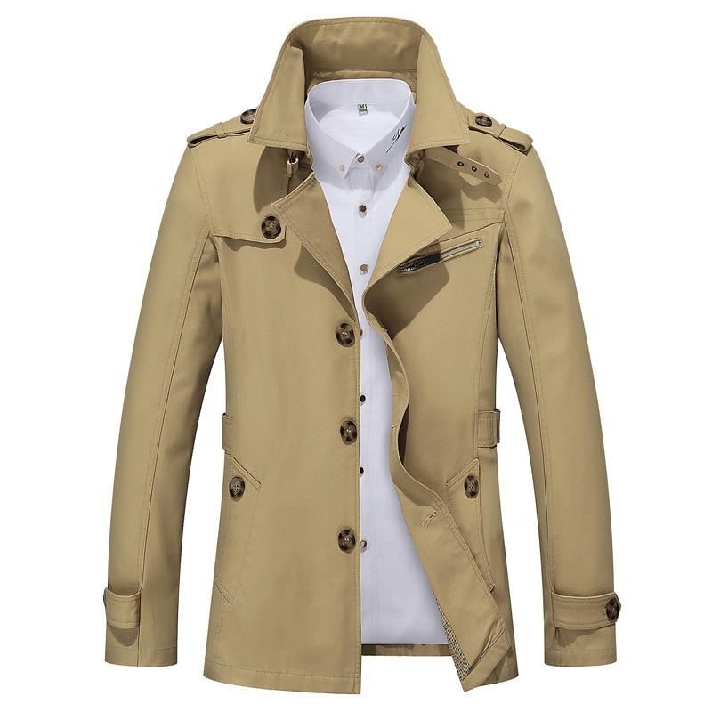 Trench Coat Men Plus Size Men's Windbreakers Cotton Coat Spring Autumn Mostly Male Coats Manteau 5xl Abrigo Hombre KJ243