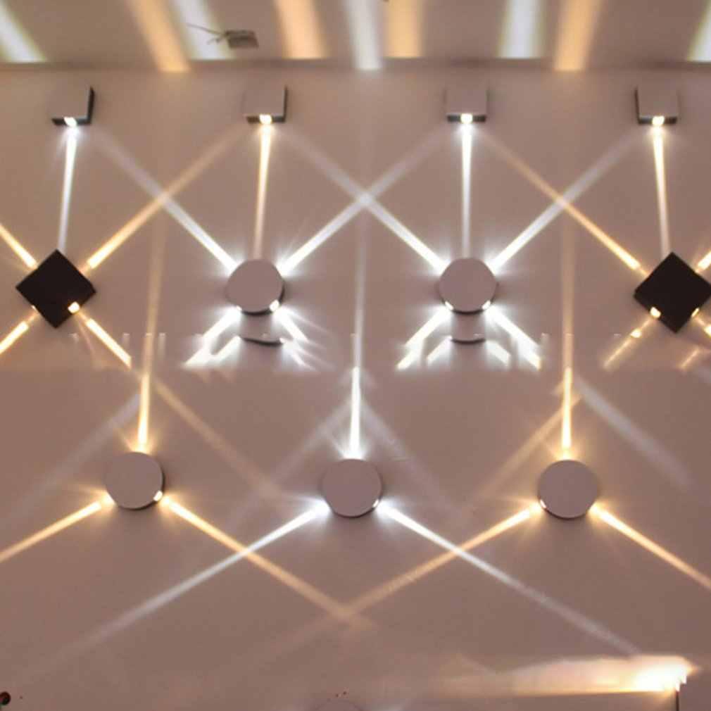 Icoco 4x3 w conduziu a lâmpada de parede cabeceira quarto sala estar simples e moderno criativo engenharia do hotel alumínio quadrado venda