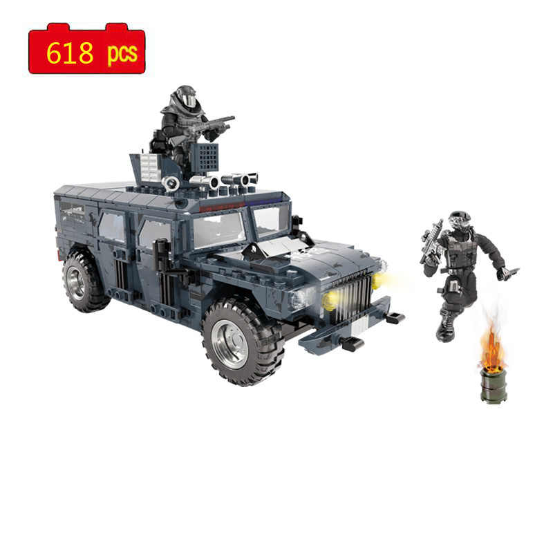 Xingbao Building Blocks Toys Gift Easter Military Series Off-road Vehicle 497PCS