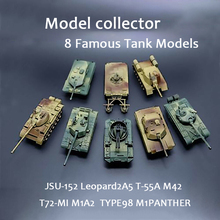 купить 8pcs/set Scale Action Figure M42 JSU-152 T-55A M1A2 T72-MI Tank Assembled Model Heavy Machine Tank Gift For Children DIY Toys онлайн