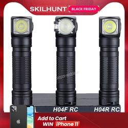 Skilhunt H04 H04R H04F RC 1200 lumen Zwei Angepasst UI USB Magnetic Wiederaufladbare LED taschenlampe Jagd Camping + Stirnband