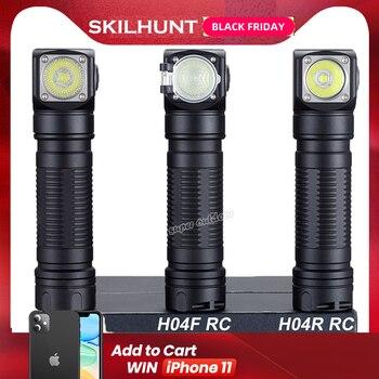 Skilhunt H04 H04R H04F RC 1200 lumen Zwei Angepasst UI USB Magnetic Wiederaufladbare LED taschenlampe Jagd Camping  Stirnband