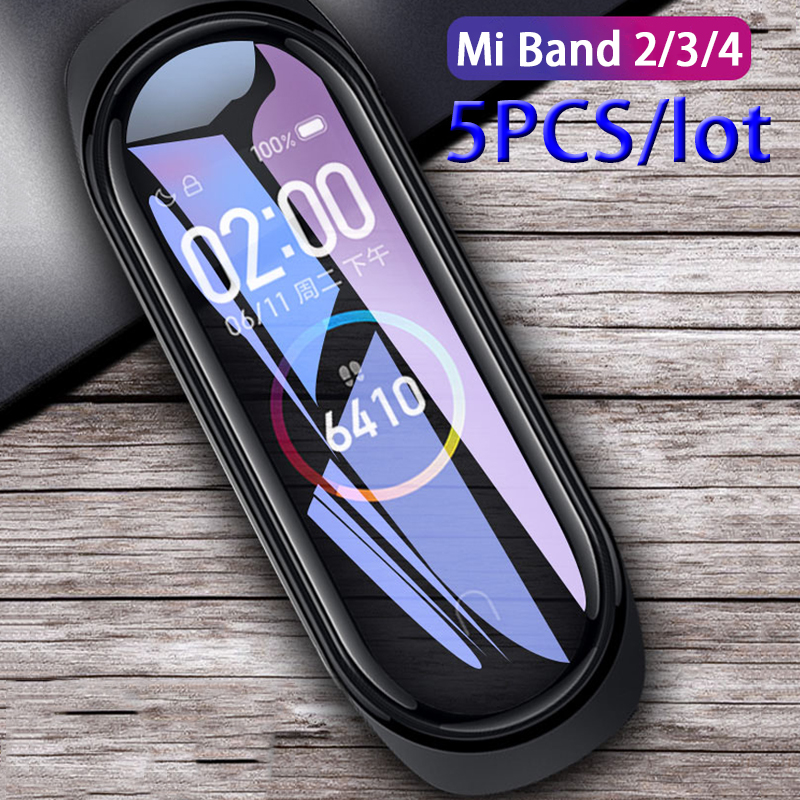 5pcs/lot 3D Full Screen Protector For Xiaomi Mi Band 4 HD Protective Film On The Xiomi Mi Band 2 3 4 Band2 Band3 Band4 Not Glass