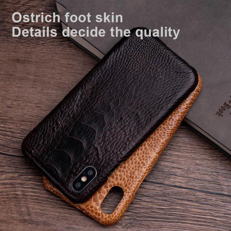 Страусиная кожа чехол для телефона для iPhone X XS Max XR чехол для Apple 5 5S SE 6 6S 7 8 Plus защитный чехол для телефона
