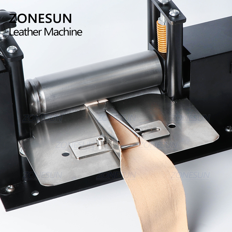 ZONESUN Manual Leather Belt Rolling Machine Shoulder Strap Leather Laminating Folding Machine Edge Sealing Machine-1