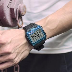 Image 3 - SYNOKE Fashion Mens Square Digital Watch Luminous Outdoor Sports Waterproof Man Watch LED Display Multifunctional Wristwatch