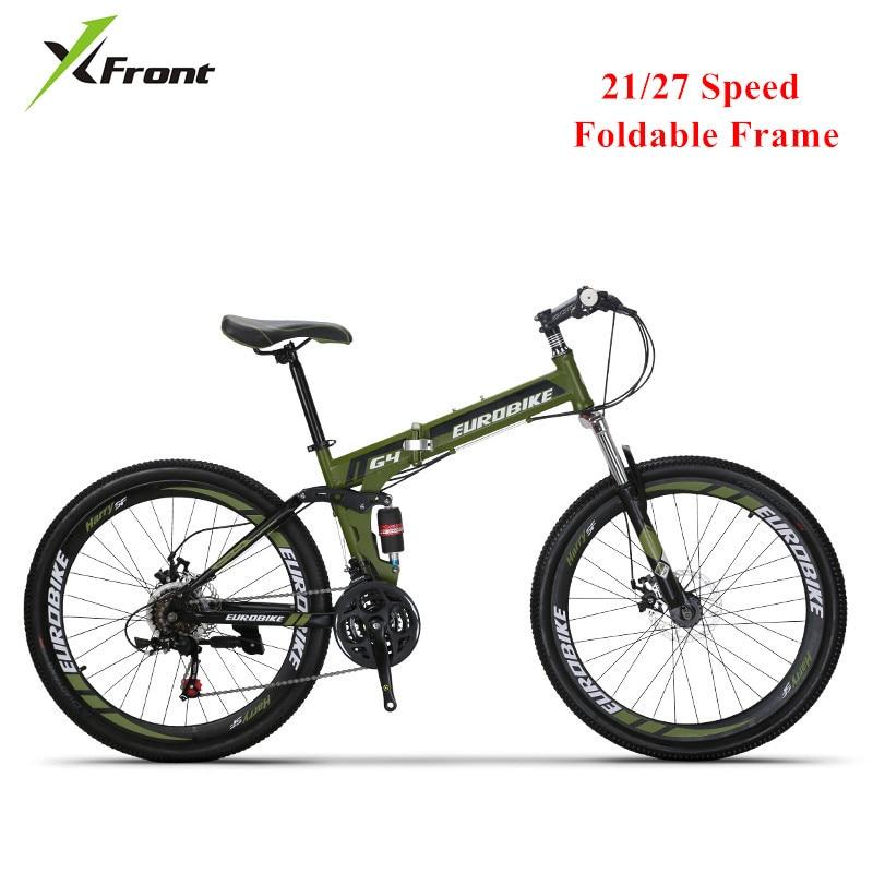 New Mountain Bike Carbon Steel Foldable Frame Soft-Tail 26 Inch Wheel Bicycle Disc Brake 21 27 Speed Sports Bicicleta