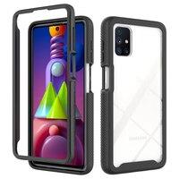 Funda de TPU a prueba de golpes para Samsung Galaxy, carcasa protectora 2 en 1 resistente a golpes para Samsung Galaxy M51 S20 FE Note 20 S21 Ultra A12 A32 A42 A52 A72