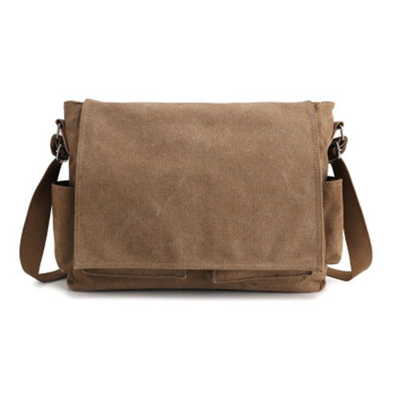 Large Capacity Canvas Briefcase Leisure Business Office Bag Shoulder Messenger Computer Travel Bag Student Shoulder Bag