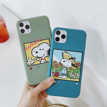 Cute cartoon Charlie Brown Dog phone case For iphone 7 8 6 6s Plus candy soft TPU cover For iphone 11 Pro Max X XR XS MAX capa simple cartoon anime puppy phone case for iphone xs max xr 6 6s 7 8 plus candy soft tpu back cover puppy wireless earphone case