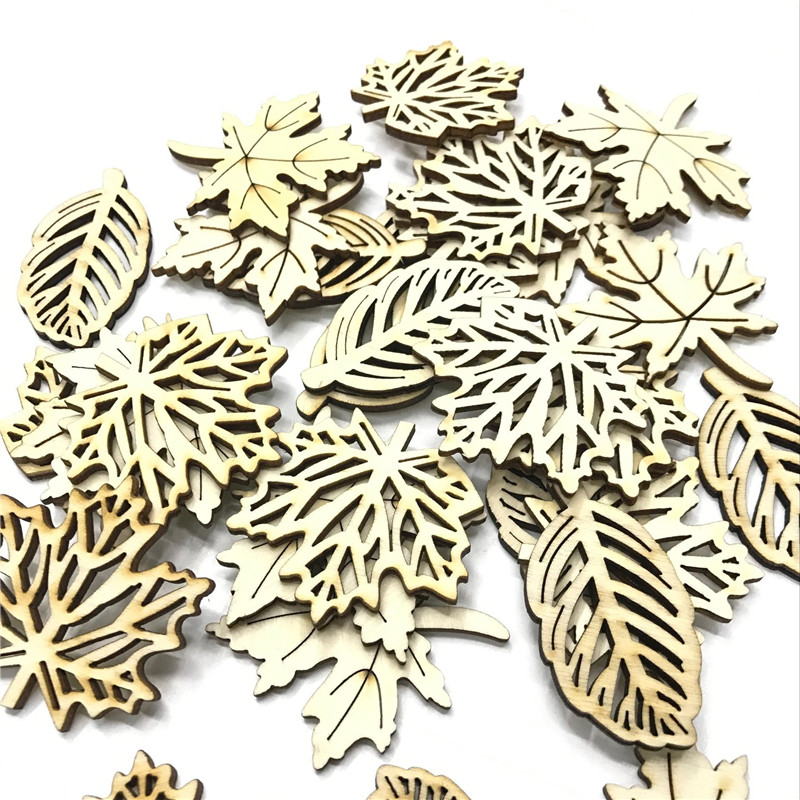 25pcs Laser Cut Wood Embellishment Wooden Easter Egg Shape Craft Wedding Decor